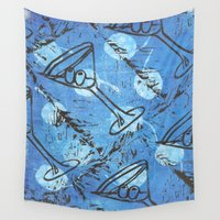 martini Wall Tapestries featuring moonlite martini by Kim Codner Designs