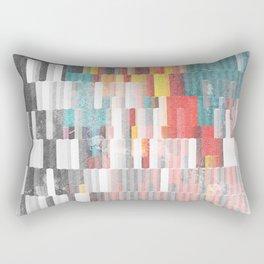 Vibrant Graffity on Black and White Geometry Rectangular Pillow