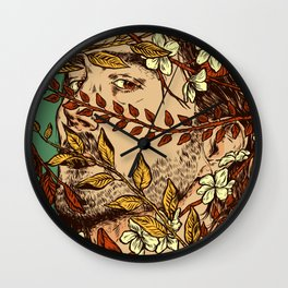 Dead inside, all pretty on the outside Wall Clock
