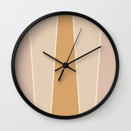 Hazelnut Color Block Wall Clock