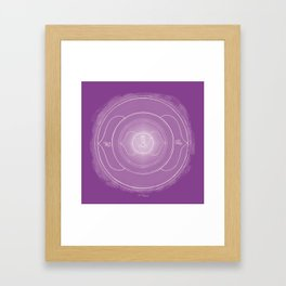 AJNA Boho mandala Framed Art Print