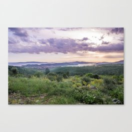 Amazing sunset over the Ciovo island, Croatia Canvas Print