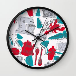 Vintage 1950's Kitchenalia Wall Clock