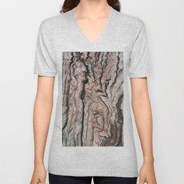 Dead Tree Trunk Texture v1 Unisex V-Neck