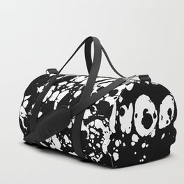 Black and white contrast ink spilled paint mess Duffle Bag