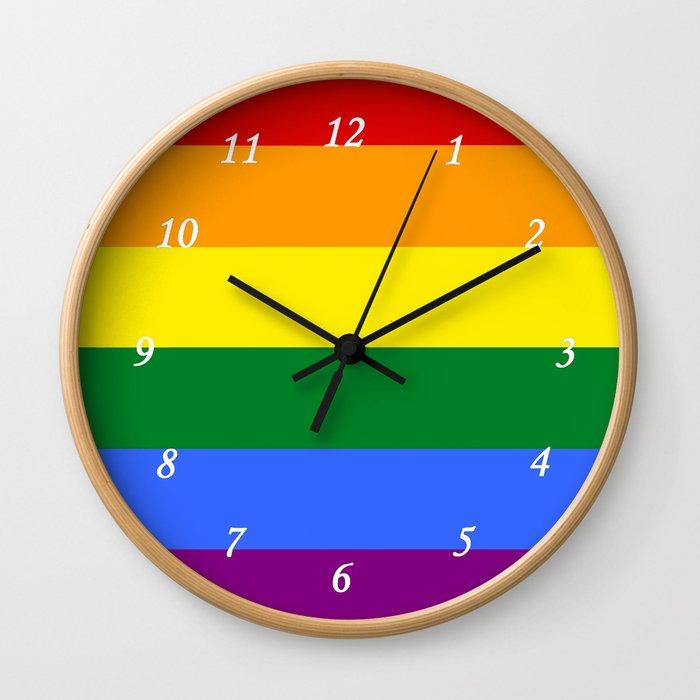 Rainbow Gay Wall Clock