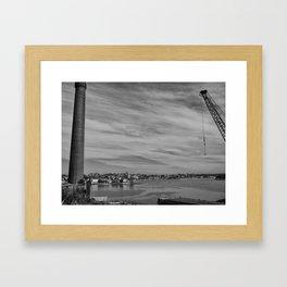 Chimney And Crane Framed Art Print
