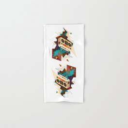 Bust Out The Jams Retro 80s Boombox Splash Hand & Bath Towel