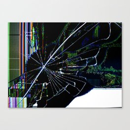Cracked LCD #1 Canvas Print