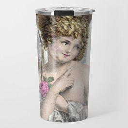 Sweet Vintage Cupid Travel Mug