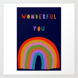 Wonderful Midnight Rainbow  Art Print