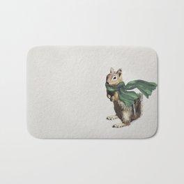 Winter Chipmunk Bath Mat