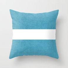 folk blue classic Throw Pillow