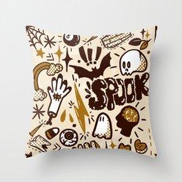 Halloween pattern Throw Pillow