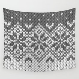 Winter knitted pattern 8 Wall Tapestry