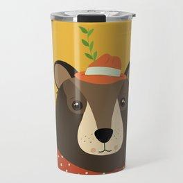 Brown Bear Print, Travel Mug