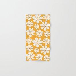 Floral Daisy Pattern - Golden Yellow Hand & Bath Towel