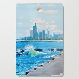 City on the Lake Cutting Board