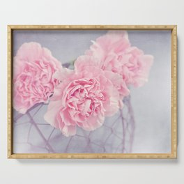 Pale Pink Carnations Serving Tray