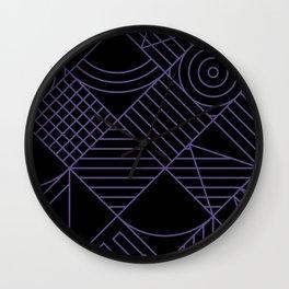 Violet Whackadoodle Wall Clock