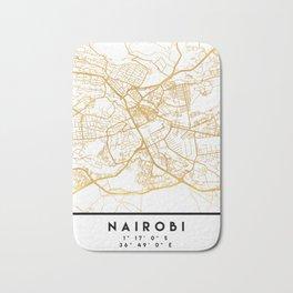 NAIROBI KENYA CITY STREET MAP ART Bath Mat