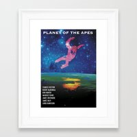 planet of the apes Framed Art Prints featuring Planet of the Apes alt. by KevinACArter