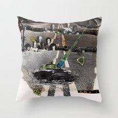 Strange Angels | Collage Throw Pillow