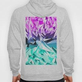Modern Trendy Purple and Teal Fractal Geo Hoody