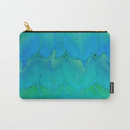 Mermaid Scales Blue Green Light 2 Carry-All Pouch