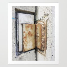 Hold the door! Art Print
