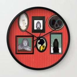 Poodle Parlor Portraits Wall Clock