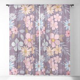 Roses 7780 Sheer Curtain