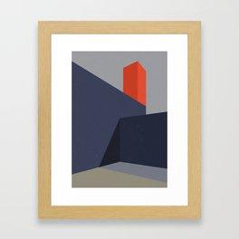Minimal Urban Landscape Framed Art Print