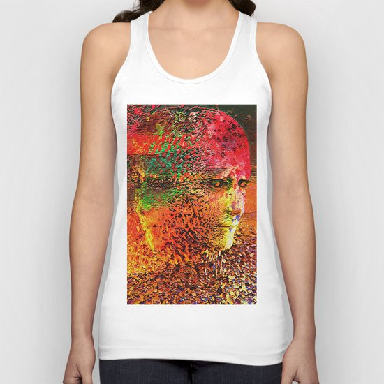 """ The beauty is the magnificence of the divine face. "" Unisex Tank Top"