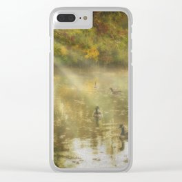 Duck party Clear iPhone Case
