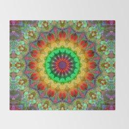 Healing Mandala 02 Throw Blanket