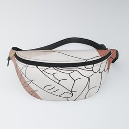Father / Mother and Child Fine Line Wall Art Graphic  Fanny Pack