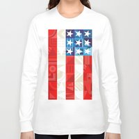 america Long Sleeve T-shirts featuring America by Fimbis