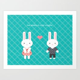 Bunny Couple Art Print