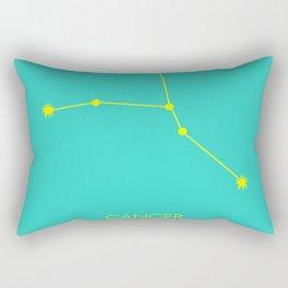 CANCER (YELLOW-TURQUOISE STAR SIGN) Rectangular Pillow