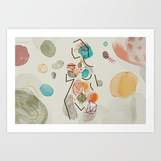 God Creates Woman for Man (by Anne Ulku) Art Print