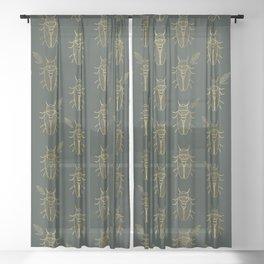 Cicada Sheer Curtain