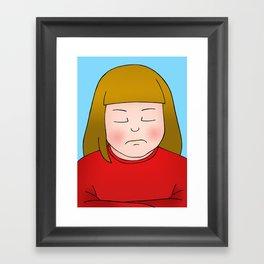 Nope Framed Art Print