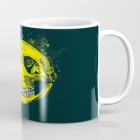 be happy Mugs featuring happy by Steven Toang