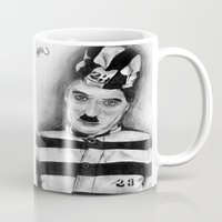 chaplin Mugs featuring Chaplin by D.E.Pérez