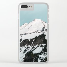 Turquoise Sky Mt. Baker Clear iPhone Case