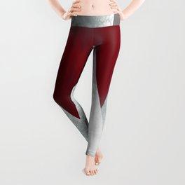 SILVER MOUNTAINS UNDER A BLOOD RED WINTER SKY Leggings