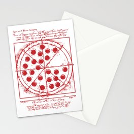 Parker Pepperoni Pizza Stationery Cards
