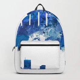 Brussels Belgium Skyline Blue Backpack