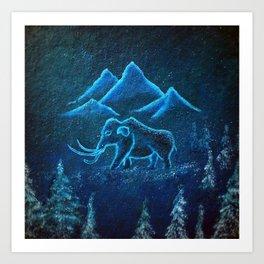 A Mammoth Journey Art Print